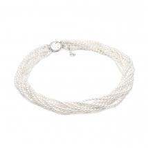Ожерелье Одри из белого жемчуга в форме риса