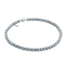 Ожерелье из серого морского жемчуга Акойя