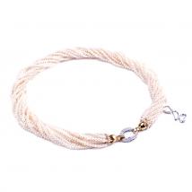 Ожерелье Одри из белого натурального жемчуга