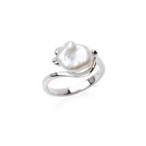 Кольцо из серебра с жемчужиной Кеши