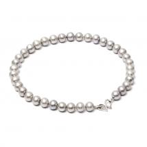 Ожерелье из крупного серого жемчуга
