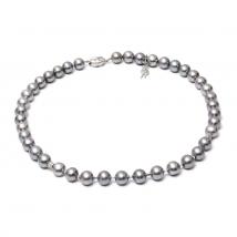 Ожерелье Грей из натурального серого жемчуга
