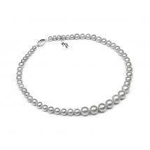 Ожерелье Классика из серого натурального жемчуга
