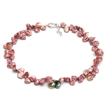 Ожерелье из жемчуга Кеши терракотового оттенка
