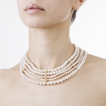 Ожерелье Афродита из белого жемчуга