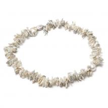 Ожерелье Кеши из белого жемчуга
