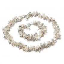 Комплект из белого жемчуга Кеши