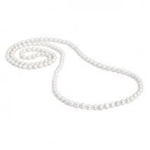Длинное ожерелье из жемчуга в форме риса