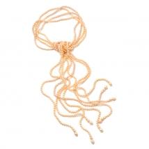 Ожерелье Роуп из жемчуга цвета оранж