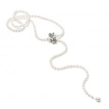 Ожерелье Азалия из белого жемчуга