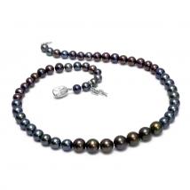 Ожерелье Классика из черного пресноводного жемчуга