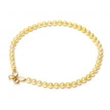 Ожерелье Акойя золотого оттенка