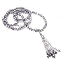 Ожерелье Джаз из серого жемчуга