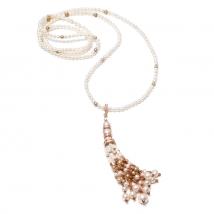 Ожерелье Джаз из белого жемчуга