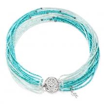 Ожерелье Эстель из бирюзы, амазонита и жемчуга
