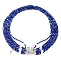 Ожерелье Шахерезада из лазурита и жемчуга
