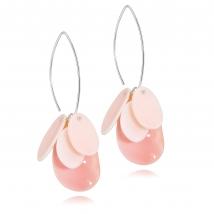 Серьги Бали с розовым перламутром