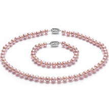 Ожерелье и браслет из лавандового жемчуга