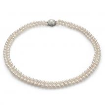 Двойное ожерелье Елизавета из морского жемчуга Акойя
