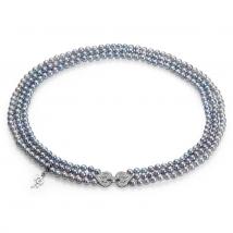 Ожерелье Теона из серого жемчуга Акойя