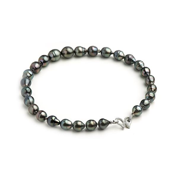 Ожерелье Феерия из темного морского жемчуга