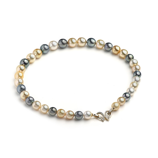 Ожерелье микс из морского жемчуга