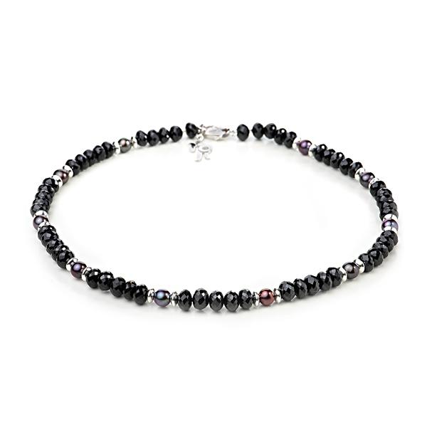 Купить Ожерелья Ожерелье Зевс из шпинели и черного жемчуга  Ожерелье Зевс из шпинели и черного жемчуга