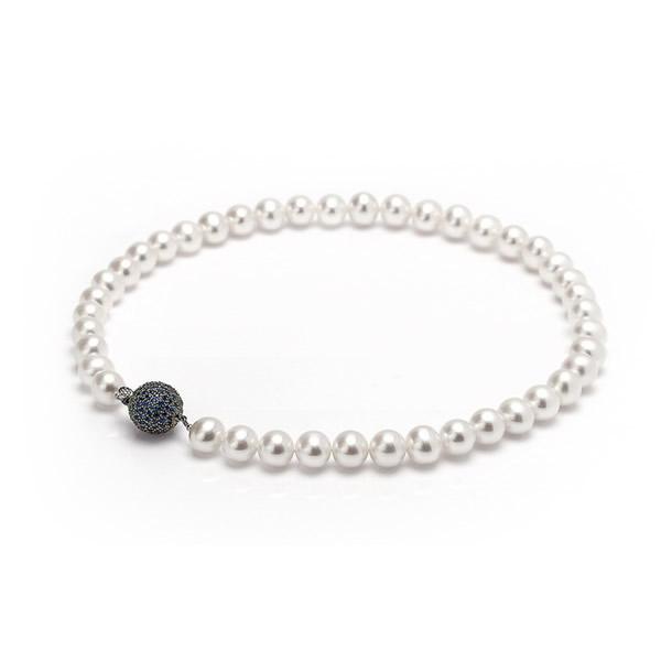 Ожерелье из жемчуга «пресной воды» с сапфирами