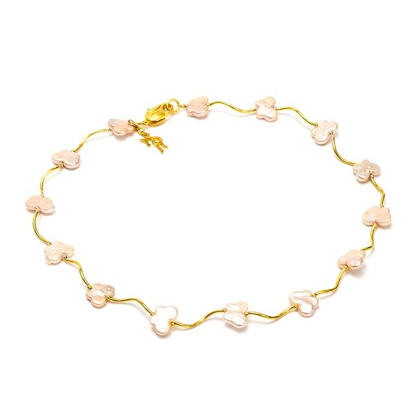 Ожерелье Опера с фантазийным жемчугом