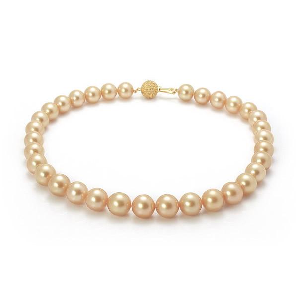 Ожерелье из морского жемчуга ярко-золотого оттенка
