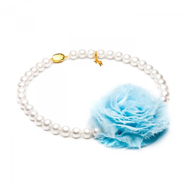 Ожерелье голубым цветком