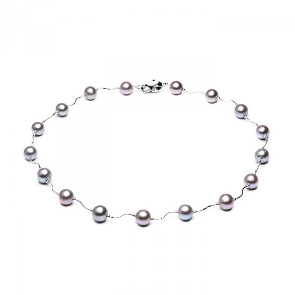 Ожерелье Опера с серым жемчугом