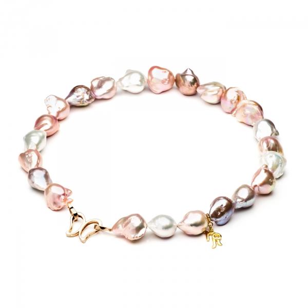 Ожерелье Барокко из разноцветного жемчуга