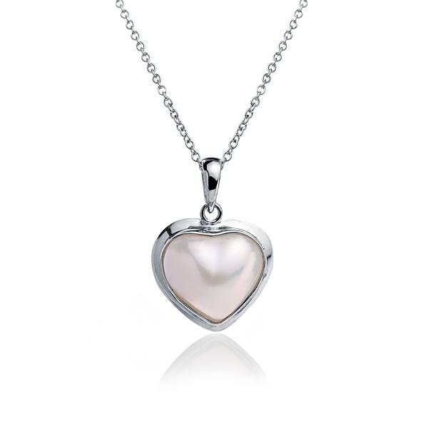 Золотая подвеска в форме сердца с жемчужиной Мабе