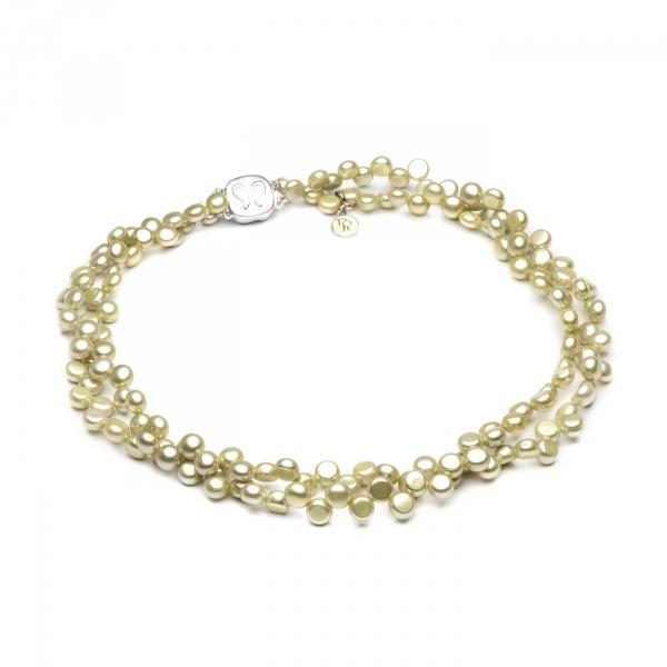 Ожерелье Сальта из фисташкового жемчуга
