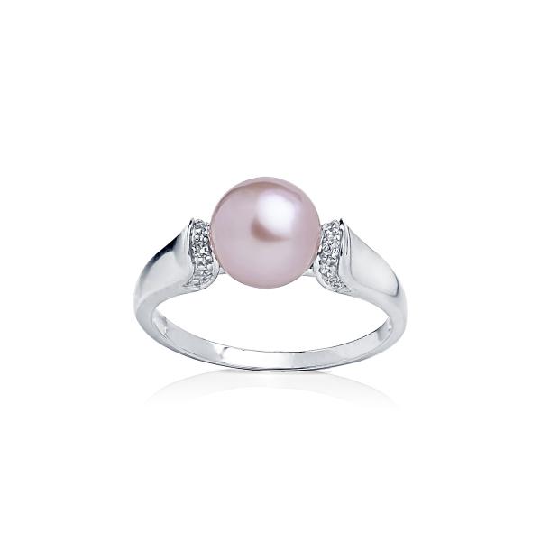 Серебряное кольцо с жемчужиной лавандового цвета