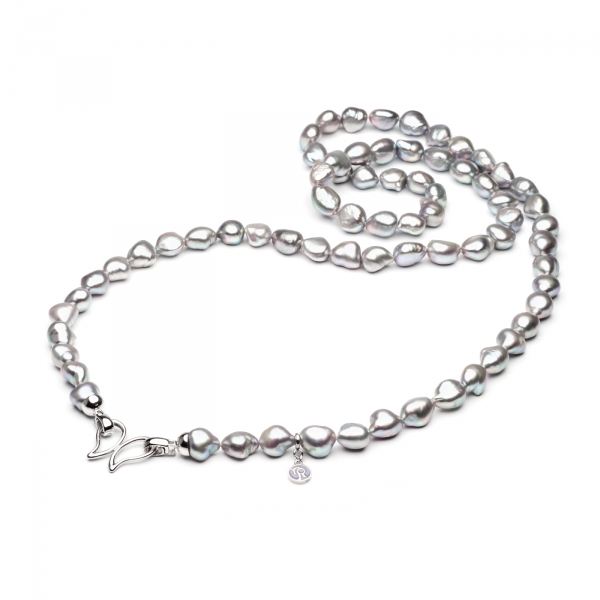Ожерелье Барокко из серого жемчуга