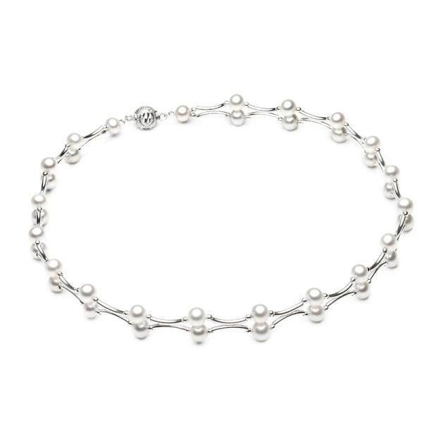 Ожерелье Амели с белым натуральным жемчугом