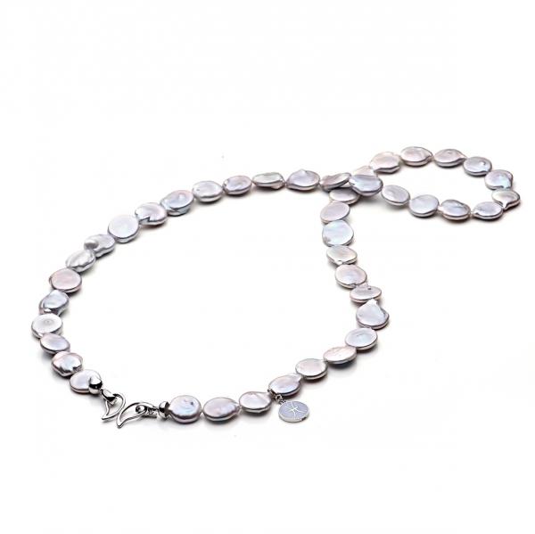 Ожерелье Бива из серого жемчуга