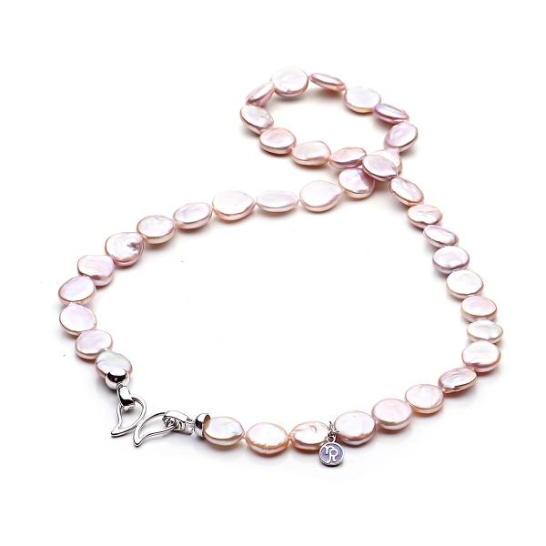 Ожерелье Бива из розового жемчуга