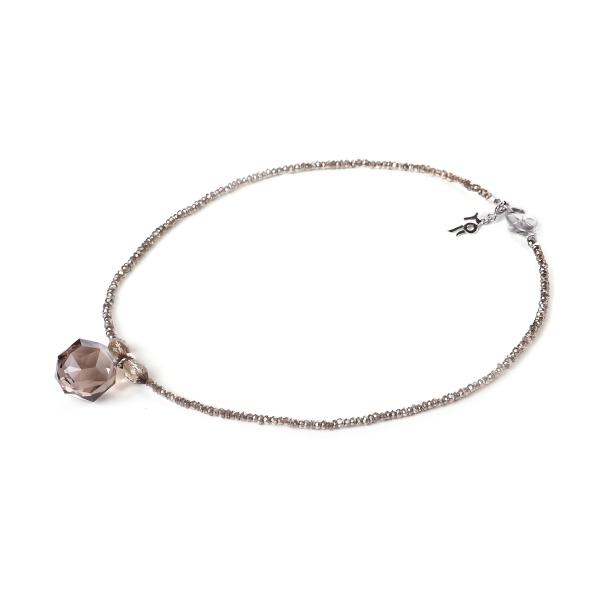 Ожерелье Дымчатый кварц