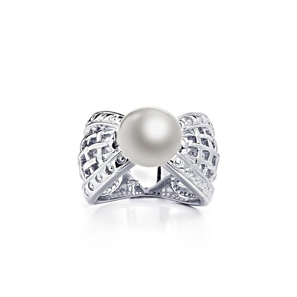 Кольцо Престиж с белой жемчужиной