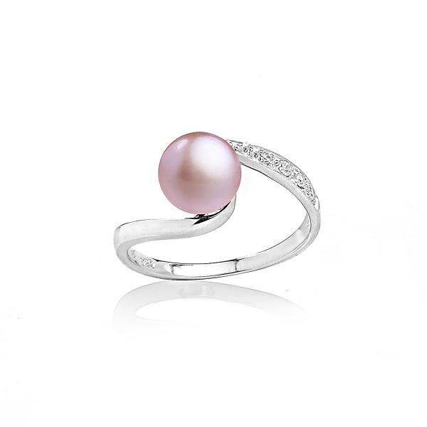 Серебряное кольцо с натуральной жемчужиной