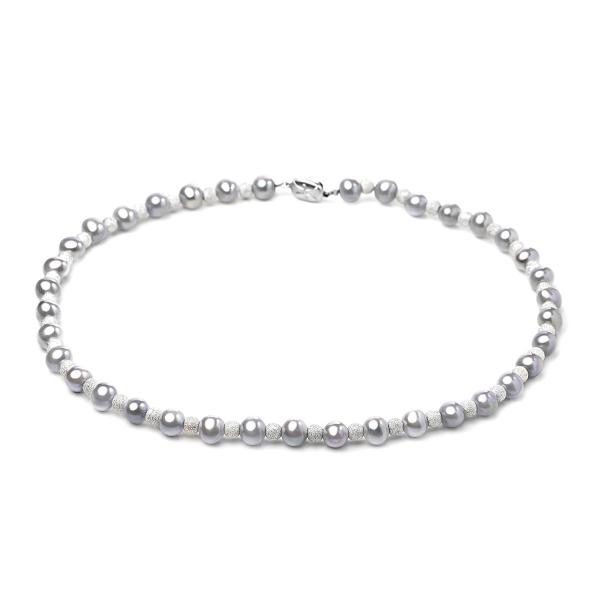Ожерелье Монте Карло из серого жемчуга