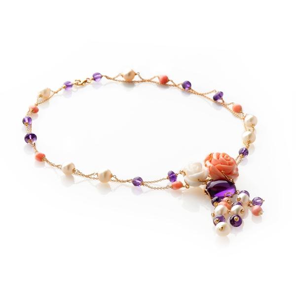 Золотое ожерелье  «Розали»
